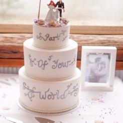 3 tier wedding cake in Batemans Bay, Nov 2016